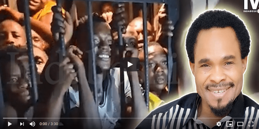Prophet Odumeje Indaboski Visit SARS Office FREES Youths From Police Cell. Video