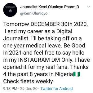 Dr.-Kemi-Olunloyo-Quit-DIGITAL-JOURNALISM-Due-To-Poor-Mental-Health