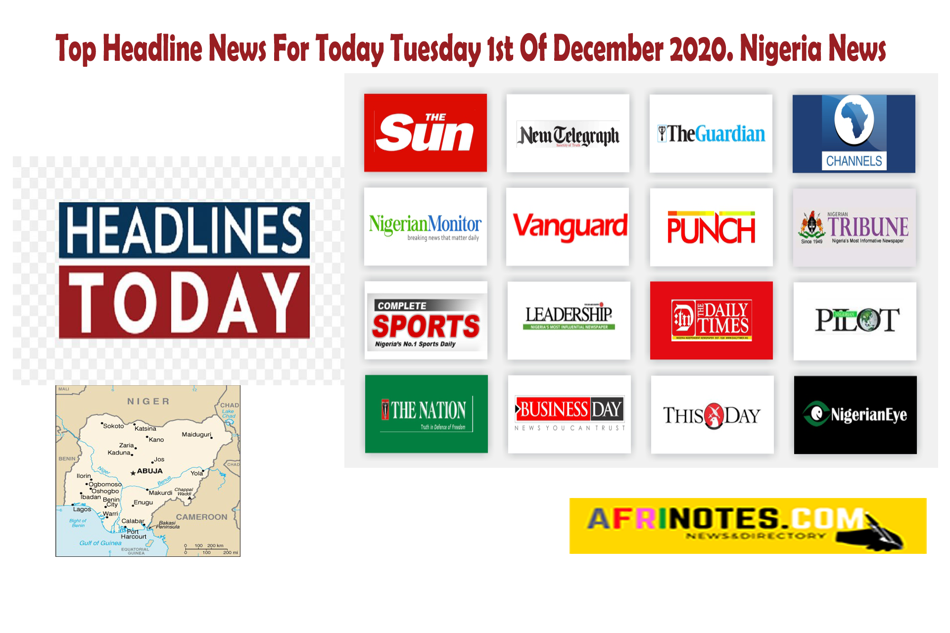 Headline-News-For-Today-Tuesday-1st-Of-December-2020