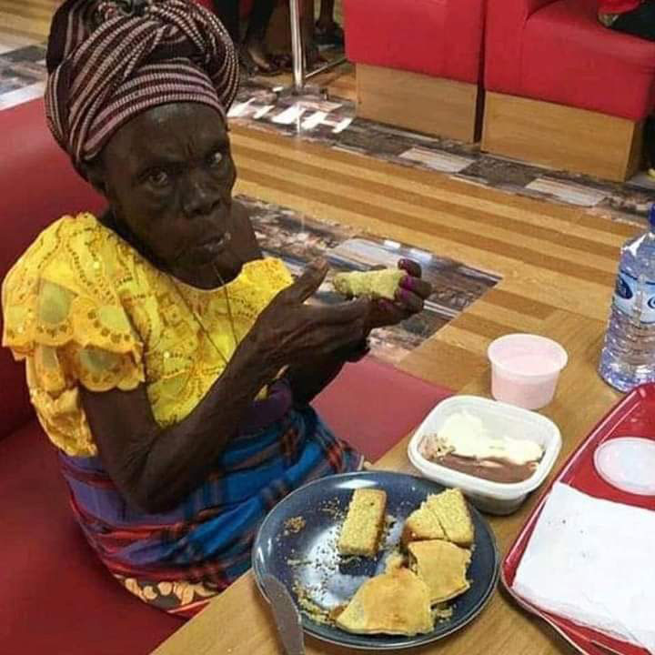 SEE IT Unidentified Man Takes His Grandmother Out For Dinner 1
