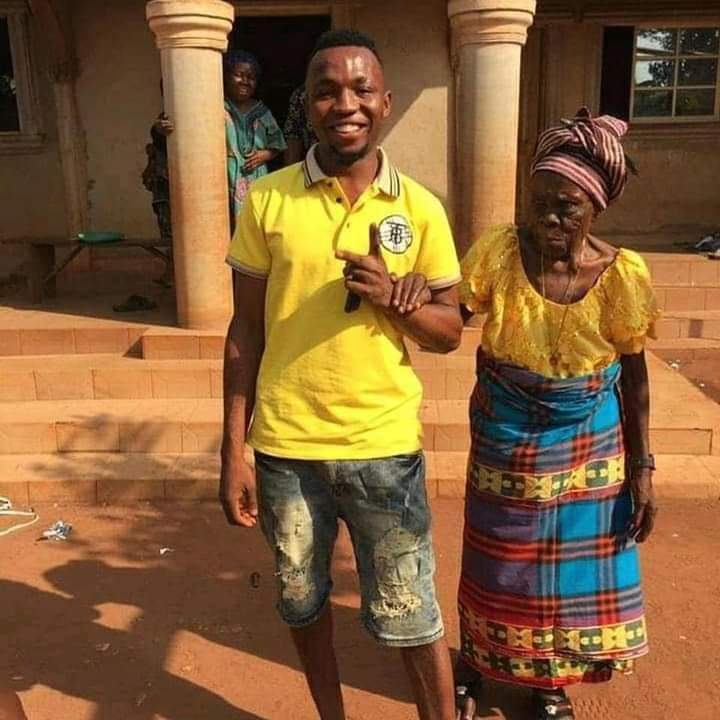 SEE IT Unidentified Man Takes His Grandmother Out For Dinner 3