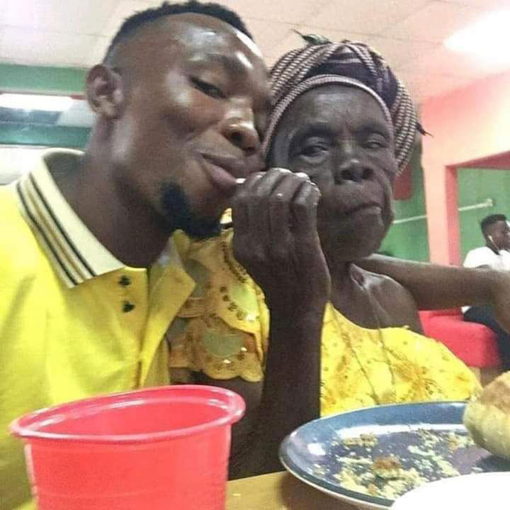 SEE IT Unidentified Man Takes His Grandmother Out For Dinner