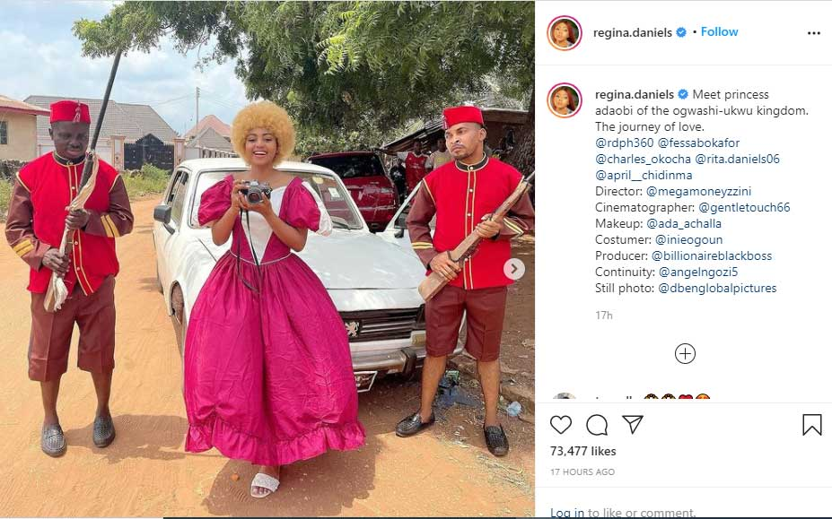 Billionaire's Wife Regina Daniels Return To Acting, afrinotes, THE JOURNEY OF LOVE