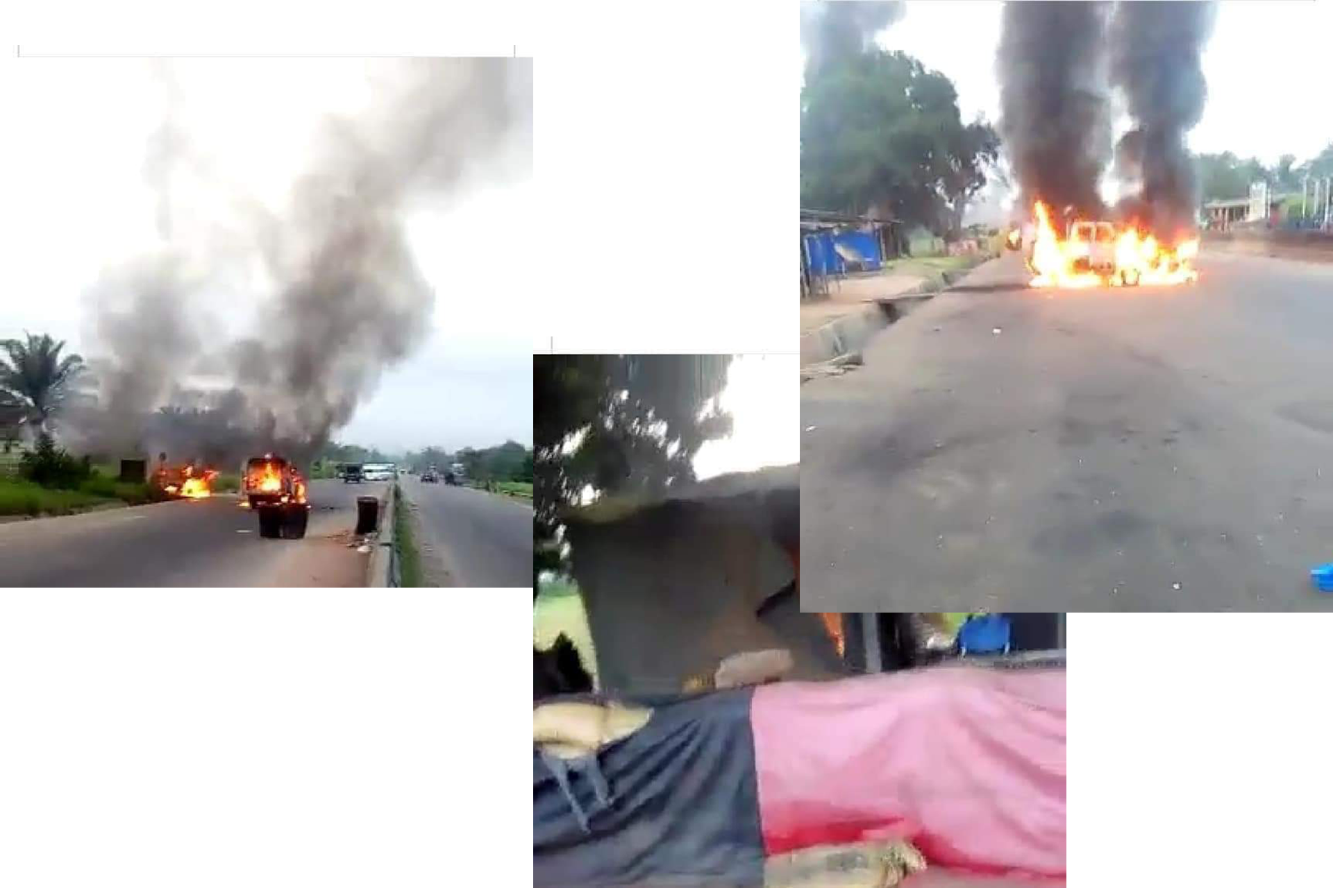 Soldiers in Ukworji Checkpoint Along Owerri Onitsha Road Escaped Death, All Operational Van Set Ablaze