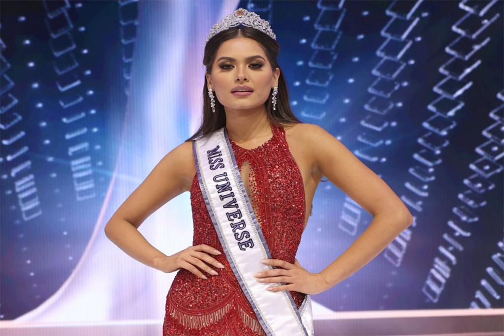 ANDREA MEZA CROWNED MISS UNIVERSE