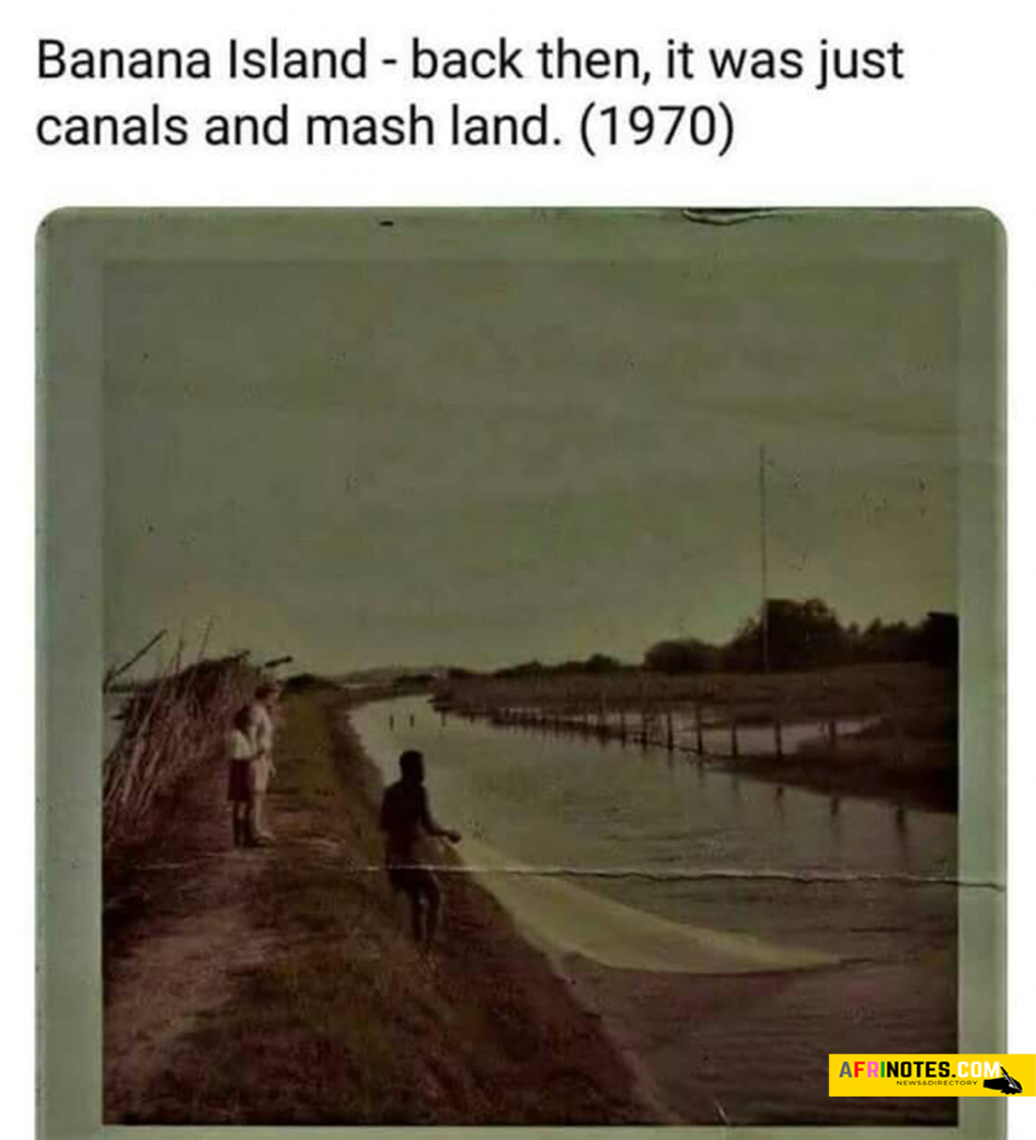 Banana-Island-back-then,-when-it-was-just-canals-and-mash-land-in-the-year-1970