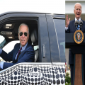 President Biden Driving The Revolutionary Electronic Car Ford F-150