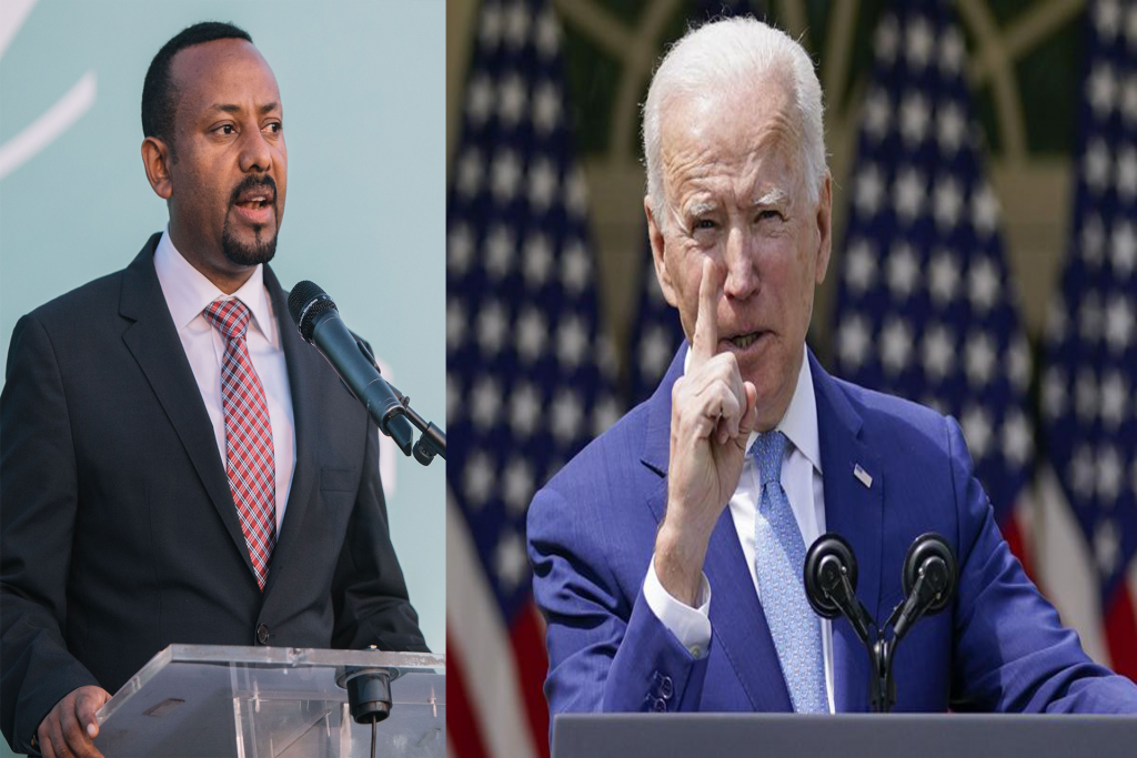 President Biden is losing patience with Ethiopian Prime Minister Abiy Ahmed Ali