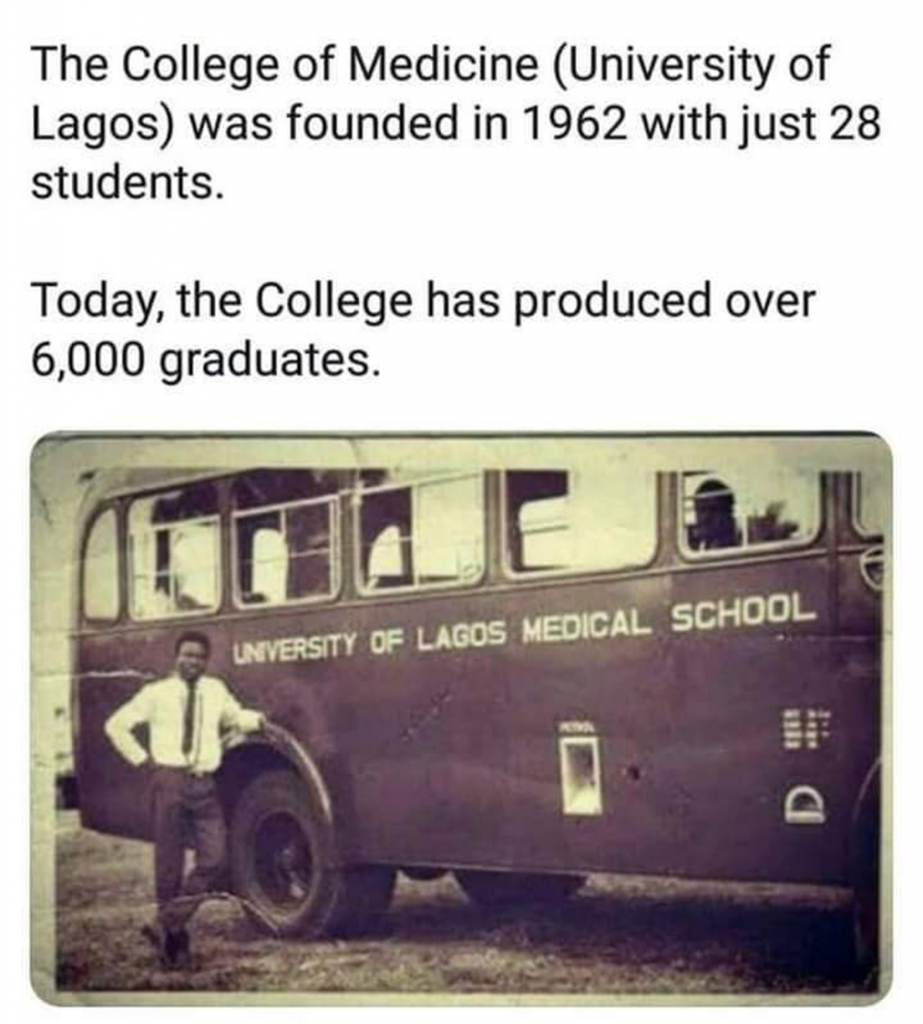 University of Lagos medical school, founded in 1962