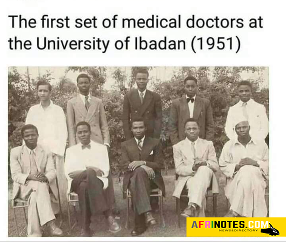 The first set of medical doctors at the University of Ibadan in the year 1951