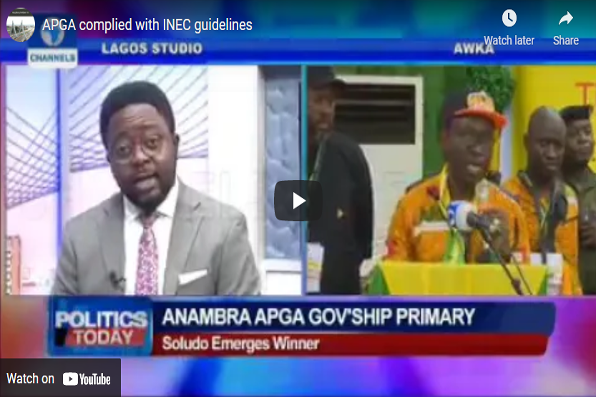 No Factions, No Aggrieved Members, Everything Is Ok With APGA, Dr. Victor Ike Oye